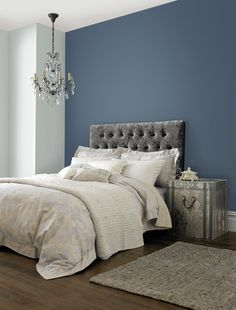 ✔ 50 Perfect Bedroom Paint Color Ideas for Your Next Project [Images] Blue Feature Wall Bedroom, Bedroom Wall Colors, Bedroom Color Schemes, Duck Egg Blue Feature Wall, Duck Egg Blue Living Room, Duck Egg Blue Bedroom, Up House, Living Room Paint, Do It Yourself Home
