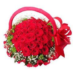 turkey Flowers - Red Rose Arrangement