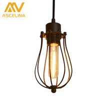 ASCELINA LED Pendant light Edison light bulb loft American country pendant lamp lighting industry Vintage iron Lamps for home(China)