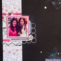 Scrapbook Saturday rubber stamped scrapbook layout #pwp #paperwingsproductions