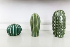 Details: Ceramic cactus figurines!