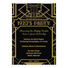 1920's Gatsby Invite