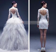De la ceremonia a la fiesta de casamiento con este traje de novia desmontable.