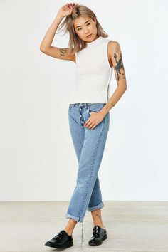 Silence + Noise Lily Slit Tank Top - Urban Outfitters