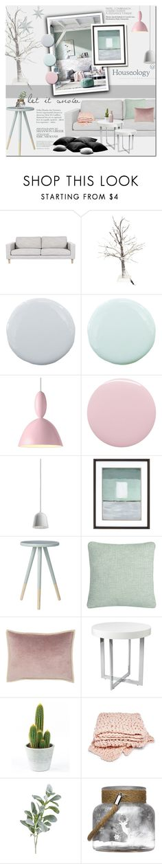 """""""Pastels Mood"""" by dian-lado ❤ liked on Polyvore featuring interior, interiors, interior design, home, home decor, interior decorating, Pure Home, Muuto, Deborah Lippmann and Flos"""