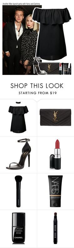 """""""Another Man launch party with Harry and Gemma"""" by chanelniall ❤ liked on Polyvore featuring Yves Saint Laurent, MAC Cosmetics, Givenchy, NARS Cosmetics, Chanel and Bobbi Brown Cosmetics"""