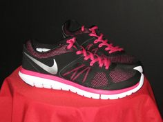 WOMEN'S NIKE FLEX 2014 RUN RUNNING SHOES SZ 10  Black/Pink #Nike #Running  #CrossTraining #SXSW #Apple
