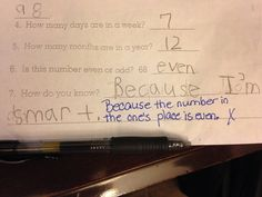 My six year old got the answer wrong, but I think she's right... - Imgur