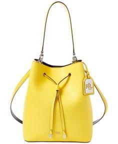 77703613642c Lauren Ralph Lauren Debby Leather Drawstring Bag Handbags   Accessories -  Macy s