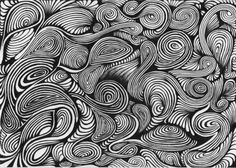 beautiful swirls - Fun to do with double sided marker (Brush and Fine point) for line variation