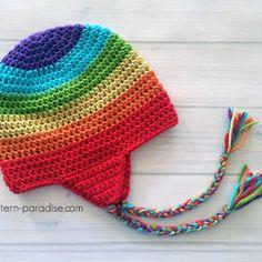 Easy Earflap Hat: FREE crochet hat pattern