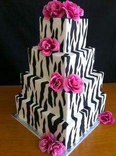 prettyyy zebra-wedding-cake-roses-250 by dpasteles, via Flickr