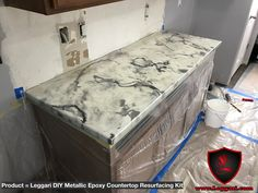 #diy #metallic #epoxy #countertop #resurfacing  kit was installed right over there existing #Formica #countertops #kitchen #kitchendesign #kitchenremodel