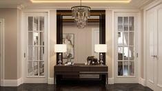 Riverside - apartment in classic style on Behance Classic Interior, Luxury Interior Design, Riverside Apartment, House Roof Design, Basement Colors, Home Entrance Decor, Contemporary Home Decor, Classic Furniture, Decoration