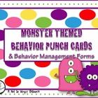 ($) This monster themed resource is great for managing behaviors! Use the punch cards to track progress and support behavior plans. This resource inclu...