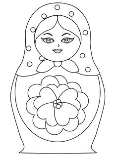 Coloring festival: Nesting dolls coloring pages Free Printable Coloring Pages, Free Coloring Pages, Coloring Sheets, Coloring Books, Matryoshka Doll, Kokeshi Dolls, Embroidery Patterns Free, Doll Quilt, Doll Crafts
