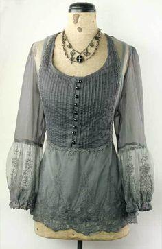 So feminine and pretty! I love the elegant dove grey color!  http://www.victoriantradingco.com/store/catalogimages/1a/i19876.html