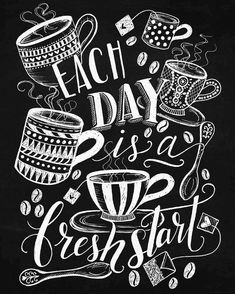 A twist on adult coloring: Chalk-Style Expressions by Valerie McKeehan. All the beauty of coloring with chalk but without the mess! These 32 hand-drawn inspirational designs feature all of the charmin Coffee Chalkboard, Blackboard Art, Chalkboard Lettering, Chalkboard Designs, Chalk It Up, Chalk Art, Adult Coloring Pages, Coloring Books, Colouring
