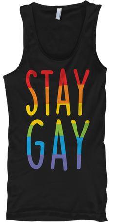 44d52d36b0b9 Stay Gay Pride T Shirt Lgbt 2018 Black T-Shirt Front Pride Shirts