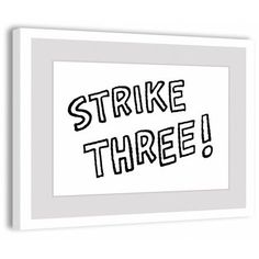 Marmont Hill Strike Three! Peanuts Framed Art Print, Size: 36 inch x 24 inch, Multicolor