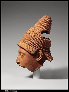 Terracotta Head, Yoruba Peoples    Date:      12th–15th century  Geography:      Nigeria, Ife  Culture:      Yoruba peoples  Medium:      Terracotta