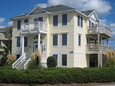 6 bedroom beach home on the oceanside in Corolla Light, an award winning Outer Banks community. Ocean & Lighthouse views! Access to the Indoor Sports Center & the community pools at Corolla Light, near the oceanfront community pool. 7 TVs (1 is an HDTV), 3 DVDs, VCR/DVD combo, XM satellite radio, high speed internet access, charcoal grill, stereo, books, videos, outside shower. Culligan Water cooler. Approximate distance to the beach is 400 feet. Parking 4 cars.