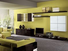 Pastel wall colours of Fürs living room fresh and inspiring positive mood