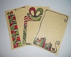 Zentangle inspired Christmas Cards. India Ink and Marker http://timelessrituals.blogspot.com