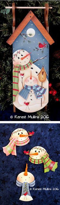 Dibujos de navidad en madera country