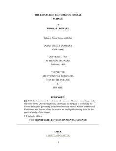 Edinburgh Lectures Thomas Troward