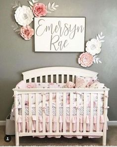 Nursery sign - personalized name sign - baby boy - baby girl - baby shower - wooden sign - Baby - Bebe Nursery Signs, Name In Nursery, Owl Nursery, Baby Bedroom, Baby Rooms, Baby Girl Nursery Bedding, Kids Rooms, Kids Bedroom, Newborn Nursery
