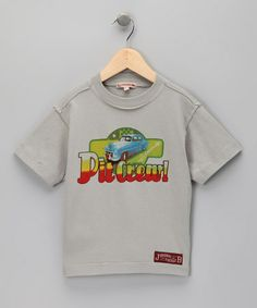 Take a look at this Light Gray Pit Crew Tee - Infant, Toddler & Boys by JB Original Vintage on #zulily today!