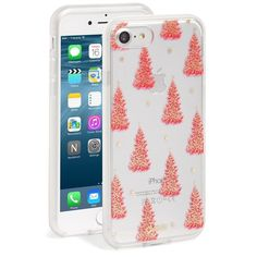 Women's Sonix Christmas Tree Iphone Case ($35) ❤ liked on Polyvore featuring accessories, tech accessories, pink, apple iphone case, iphone cases, iphone cover case, pink iphone case and iphone sleeve case