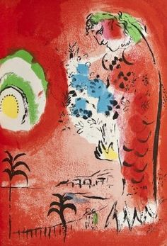 """Marc Chagall, Sirene Rouge"""" (Red Siren)"""