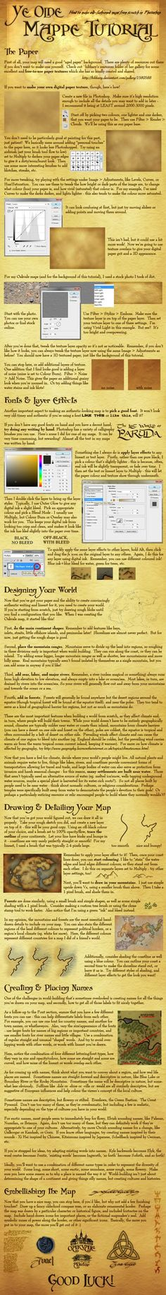 Ever wonder how to make an awesome map for a fantasy world? Here's a tutorial!