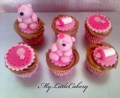 Baby shower cupcakes  Cake by MyLittleCakery