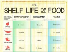 Infographic: The Shelf Life of Food | The Kitchn
