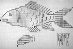 Home Decor Crochet Patterns Part 17 - Beautiful Crochet Patterns and Knitting Patterns Graph Crochet, Crochet Fish, Crochet Home, Thread Crochet, Filet Crochet, Crochet Motif, Crochet Doilies, Crochet Stitches, Knitting Charts