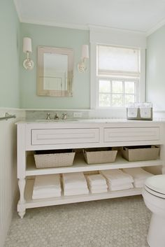 Seafoam Green Bathroom Like The Colour Combo For My Future