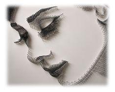 Audrey Hepburn, String Art Templates, String Art Patterns, Yoga Studio Design, Feng Shui Wall Art, Art Minimaliste, Sacred Geometry Art, Personalised Gifts Unique, Mandala Artwork