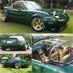 ❤ @tumizza / Check our friends at  @brgeunosownersclub | #TopMiata #mazda #miata #mx5 #eunos #roadster #workwheels #workmeister #garagevary