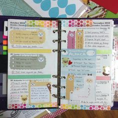 My week 44 #filofax pages all filled up. #filofaxlove #filofaxaddict #filofaxgoodies #stickynotes #planner