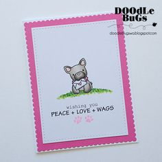 """MAMA ELEPHANT: Playful Pups (4""""x 6"""" Clear Photopolymer Stamp Set) Set includes Playful Pups: twelve images and four sentiment stamps. *Coordinates with Playful Pups creative cuts die."""