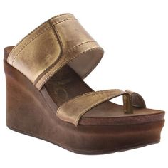 Brookfield by OTBT in gold.  This wedge is a spring summer must have for any and all occasions!