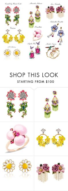 """""""Flowers"""" by alvufashionstyle ❤ liked on Polyvore featuring Casadei, Mercedes Salazar, Pomellato, VANINA, AZ Collection, Les Néréides, Michal Negrin, polyvoreeditorial, alvufashionstyle and alvuelafranco"""