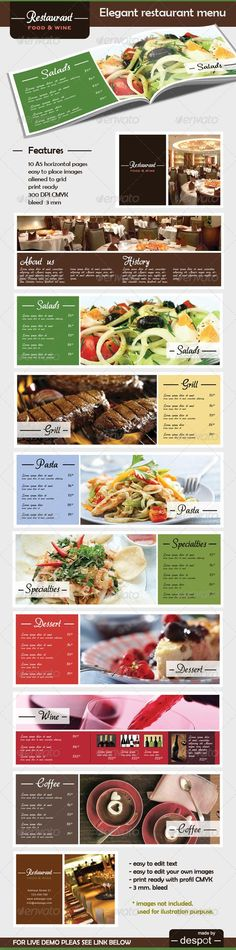 Elegant Restaurant Menu Template. Download: http://graphicriver.net/item/elegant-restaurant-menu/188442?ref=ksioks