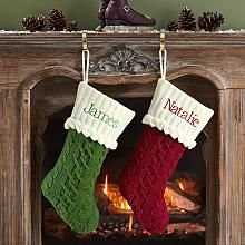 Cable Knit Stockings - I would like to make these, if only from upcycled sweaters