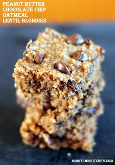 You won't believe these incredible fudgy peanut butter chocolate chip bars are made with lentils! Plus they're vegan & gluten free.