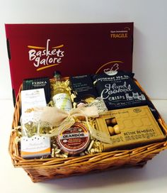Cheesey birthday basket for a special mum