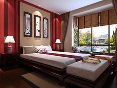 Feng-Shui Tipps-Rollos Bett Design